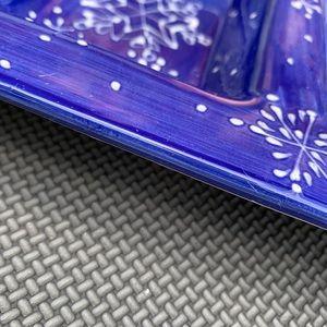 Holiday - Blue snowflakes holiday tray